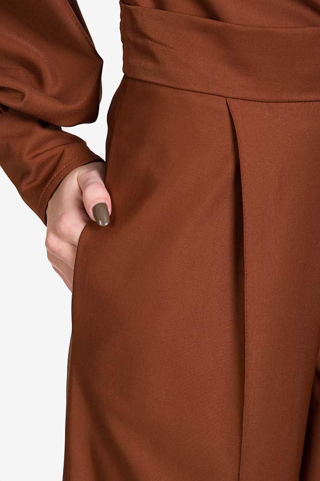 Pantalon en mélange de soie et coton Amber Carmina Cimpoeru image 3