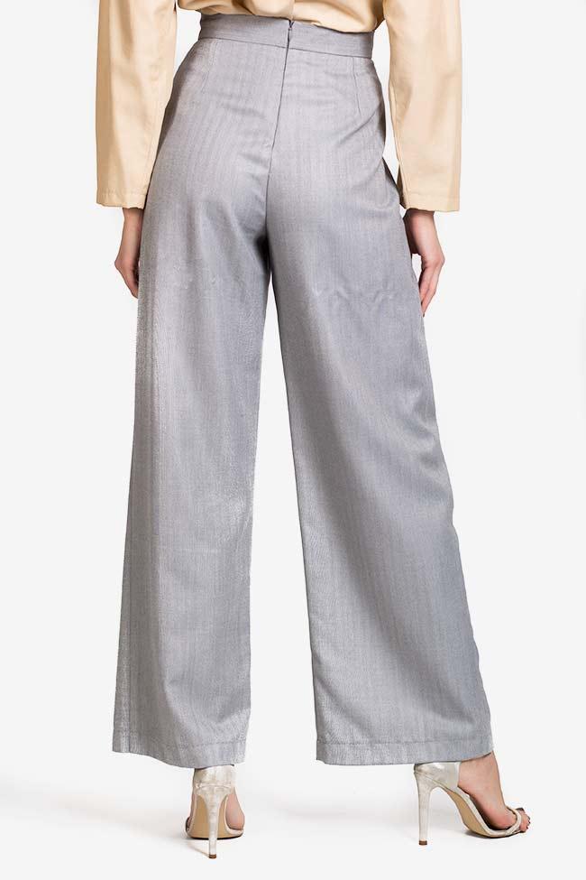 Pantalon en mélange de laine et coton Cloud Carmina Cimpoeru image 2
