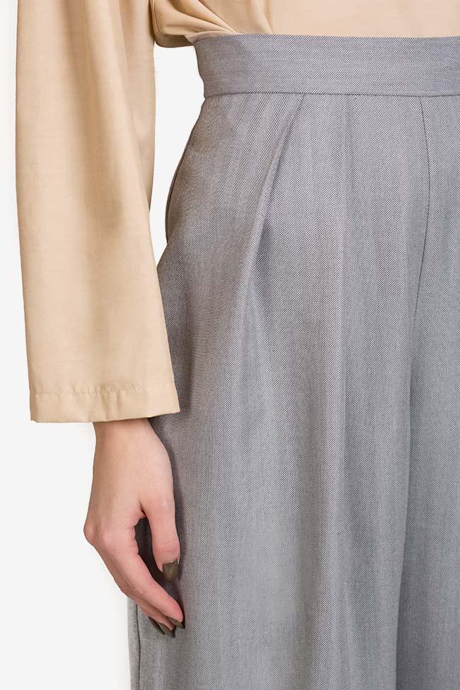 Pantalon en mélange de laine et coton Cloud Carmina Cimpoeru image 3
