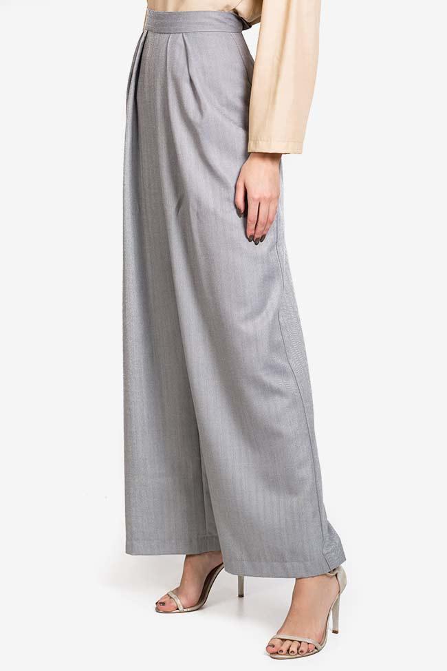 Pantalon en mélange de laine et coton Cloud Carmina Cimpoeru image 0