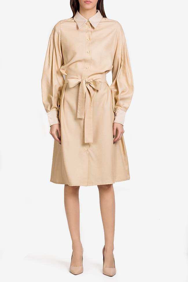Robe chemise en mélange de soie et coton Carmina Cimpoeru image 1