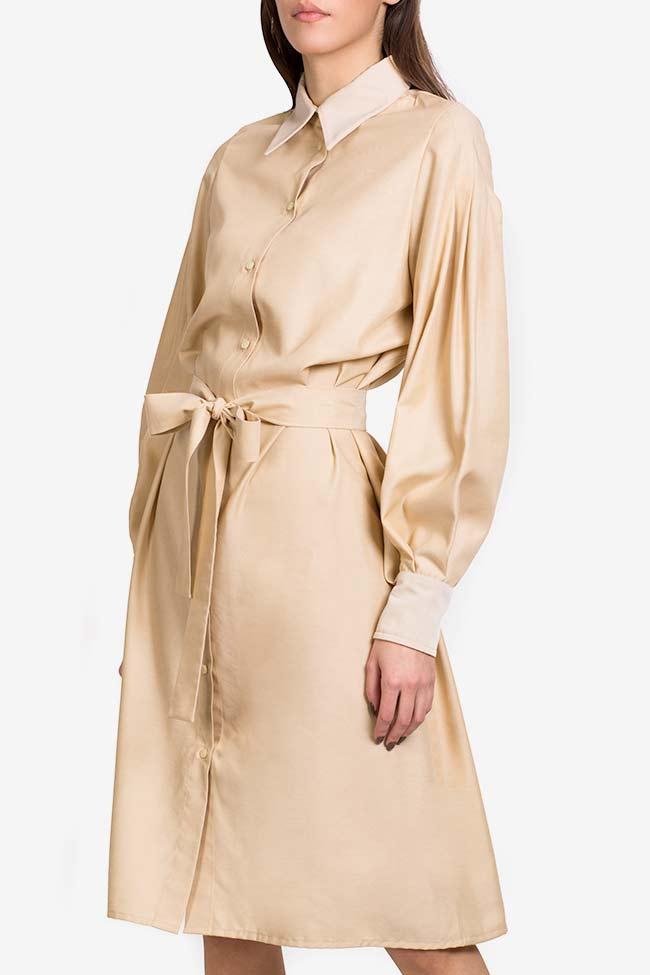 Robe chemise en mélange de soie et coton Carmina Cimpoeru image 0