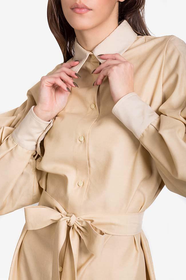 Robe chemise en mélange de soie et coton Carmina Cimpoeru image 3