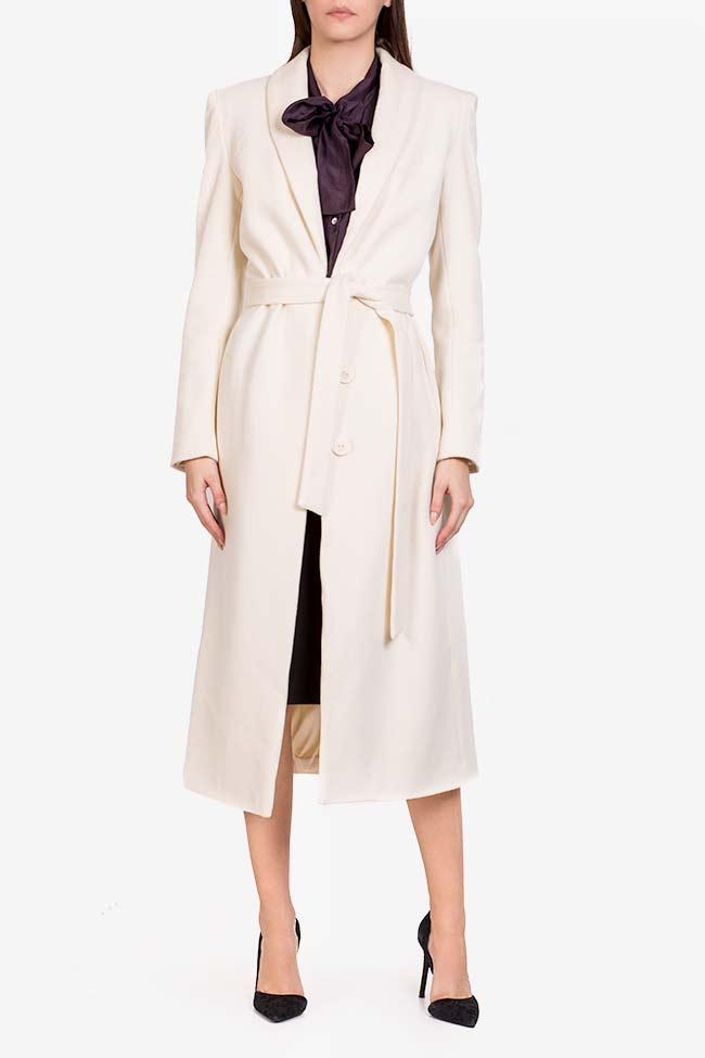 Manteau en laine avec cordon Acob a Porter image 1