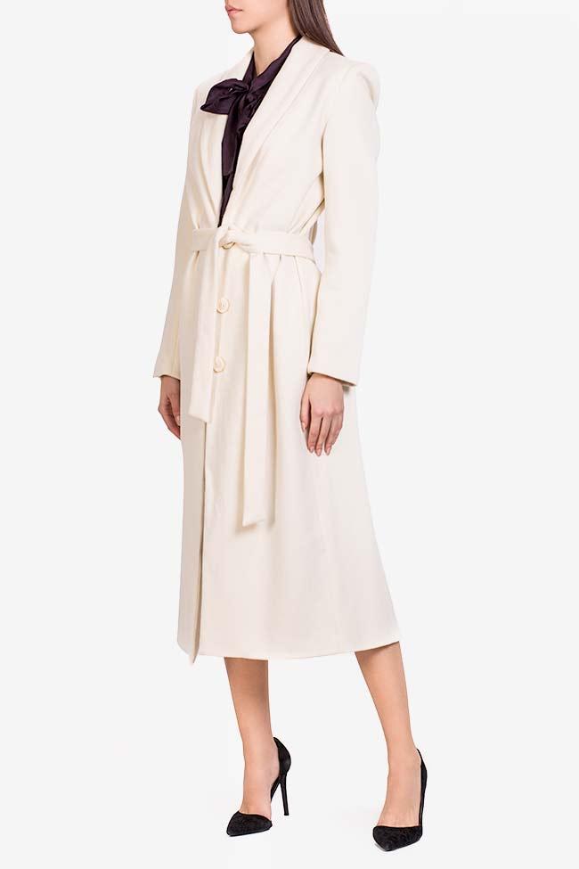 Manteau en laine avec cordon Acob a Porter image 0