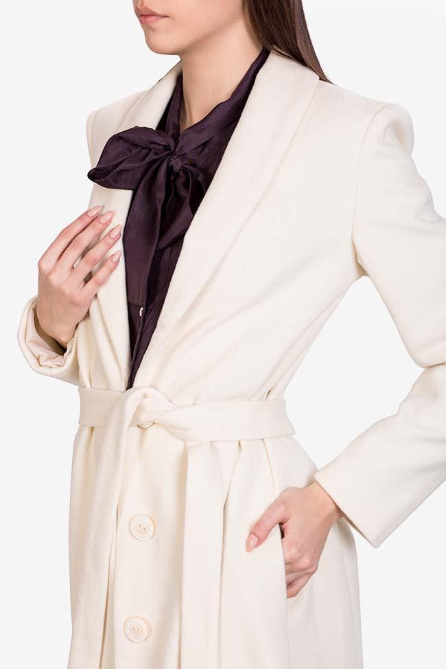 Manteau en laine avec cordon Acob a Porter image 3