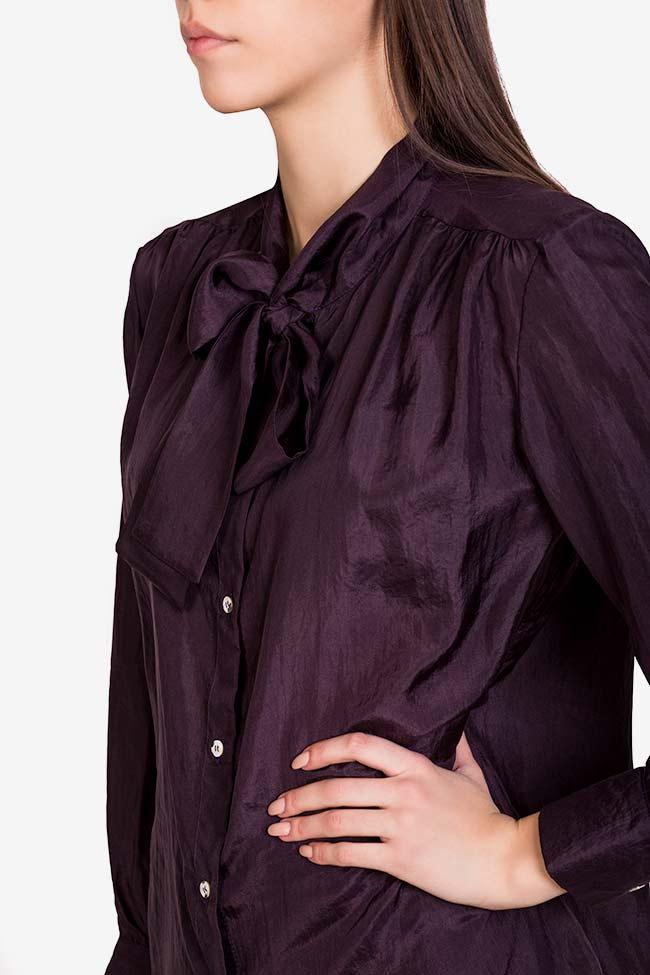 Pussy-bow silk shirt  Acob a Porter image 3