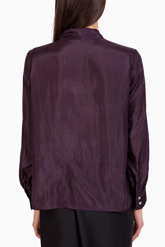 Pussy-bow silk shirt  Acob a Porter image 2