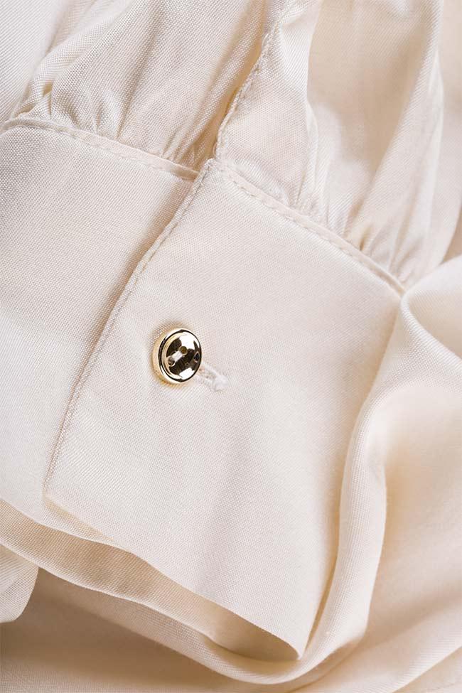 Pussy-bow silk-blend cotton shirt  Acob a Porter image 4