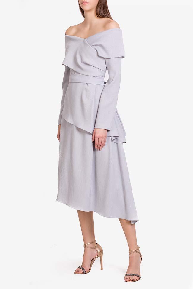 Triangle robe asymétrique avec manches type cape DALB by Mihaela Dulgheru image 0