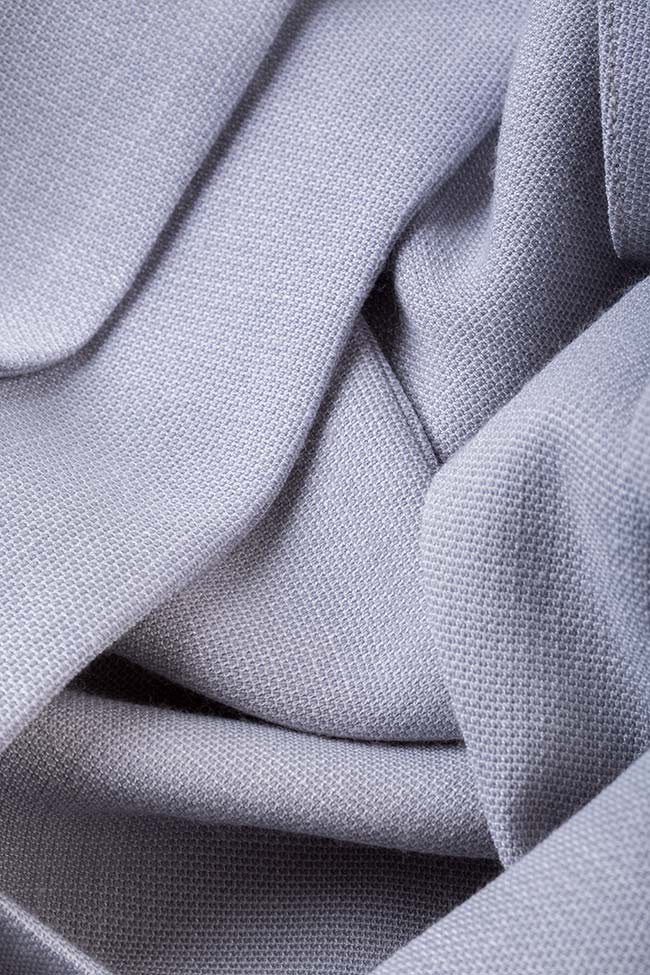 Triangle rochie asimetrica cu maneci tip capa DALB by Mihaela Dulgheru imagine 4