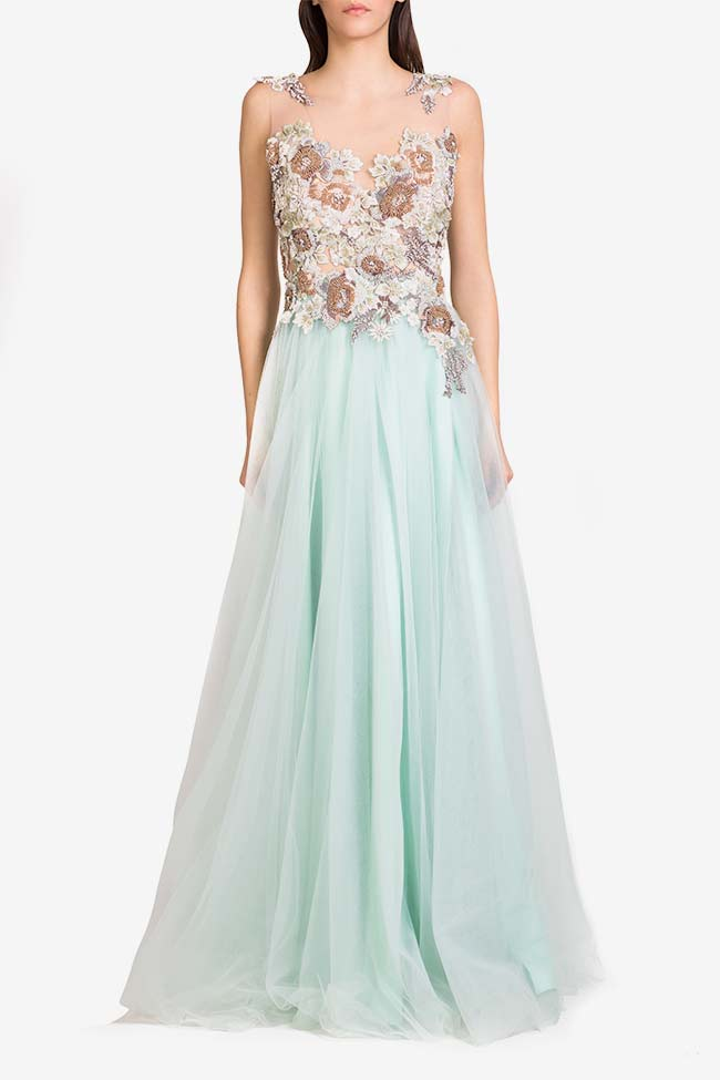 Irene crystals embellished tulle and lace gown VIGO image 1