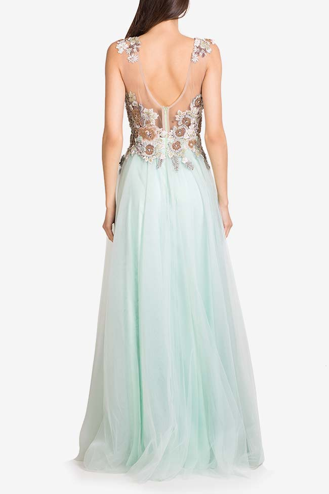 Irene crystals embellished tulle and lace gown VIGO image 2