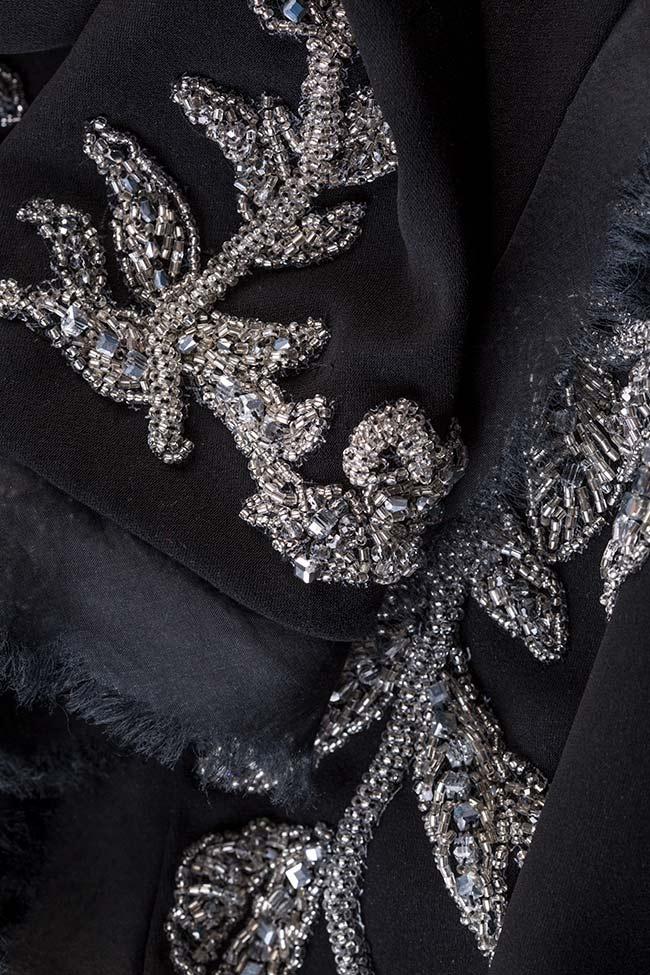 Veste en crêpe italien avec applications de cristaux  M Marquise image 4