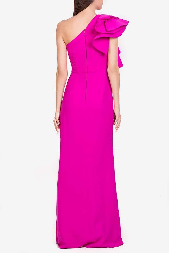 Maxine ruffled italian crepe gown M Marquise image 2