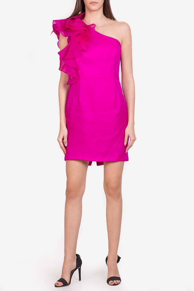 Molly Mini ruffled silk mini dress M Marquise image 1