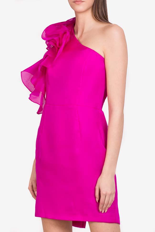 Molly Mini ruffled silk mini dress M Marquise image 0