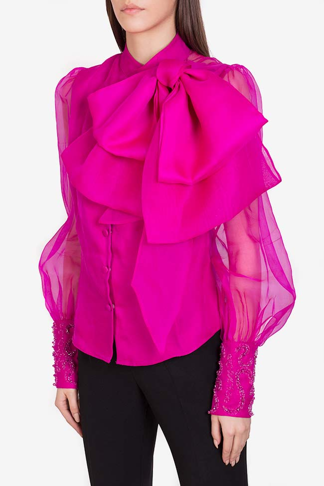 Amora embellished silk organza top M Marquise image 0