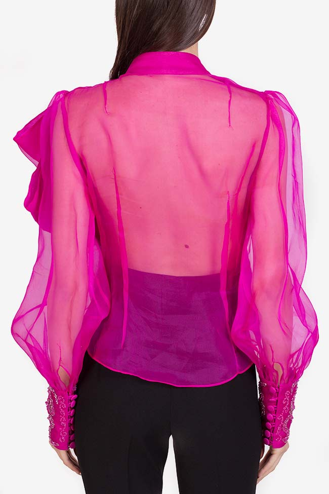 Amora embellished silk organza top M Marquise image 2