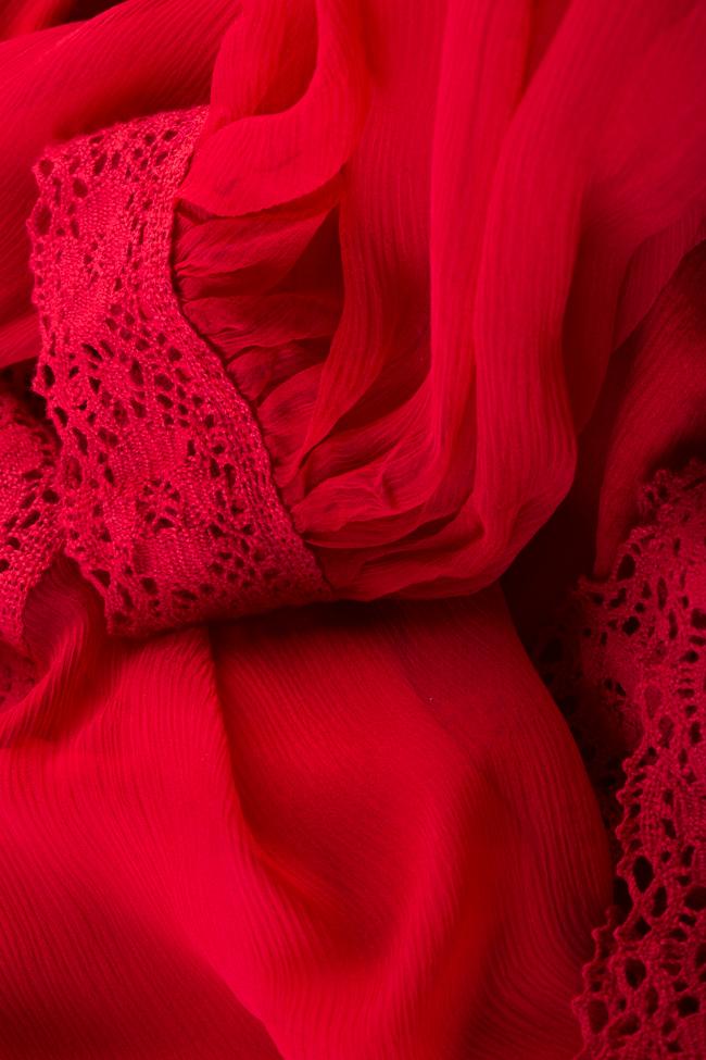 Robe en voile de soie avec empiècements de dentelle macramé Izabela Mandoiu image 4