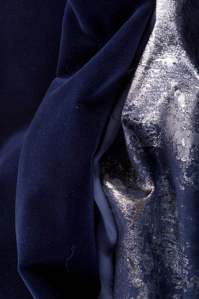 Asymmetric jacquard panel cotton-velvet midi skirt Izabela Mandoiu image 4