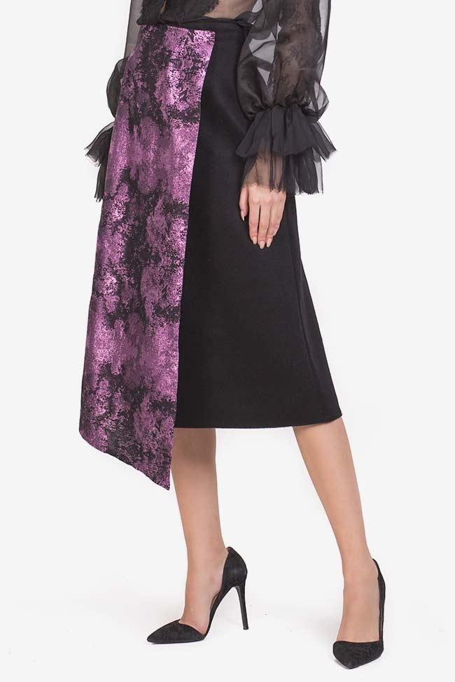 Jupe en étoffe de laine avec empiècement en Jacquard Izabela Mandoiu image 0