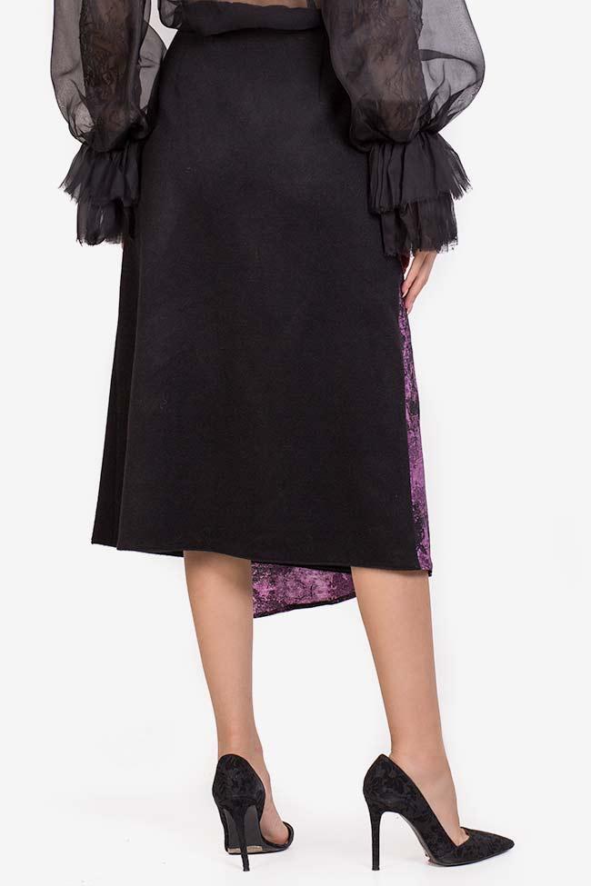 Jupe en étoffe de laine avec empiècement en Jacquard Izabela Mandoiu image 2
