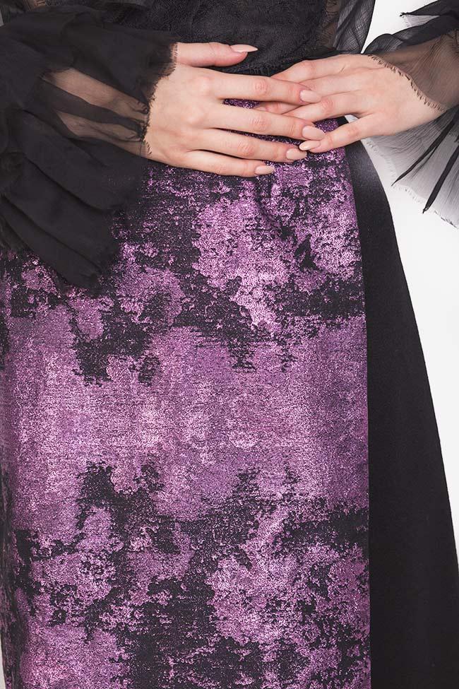 Jupe en étoffe de laine avec empiècement en Jacquard Izabela Mandoiu image 3