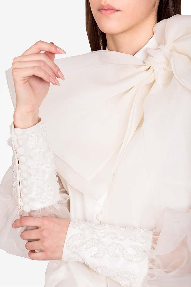 Chemise en organza de soie avec broderies cousues main M Marquise image 3
