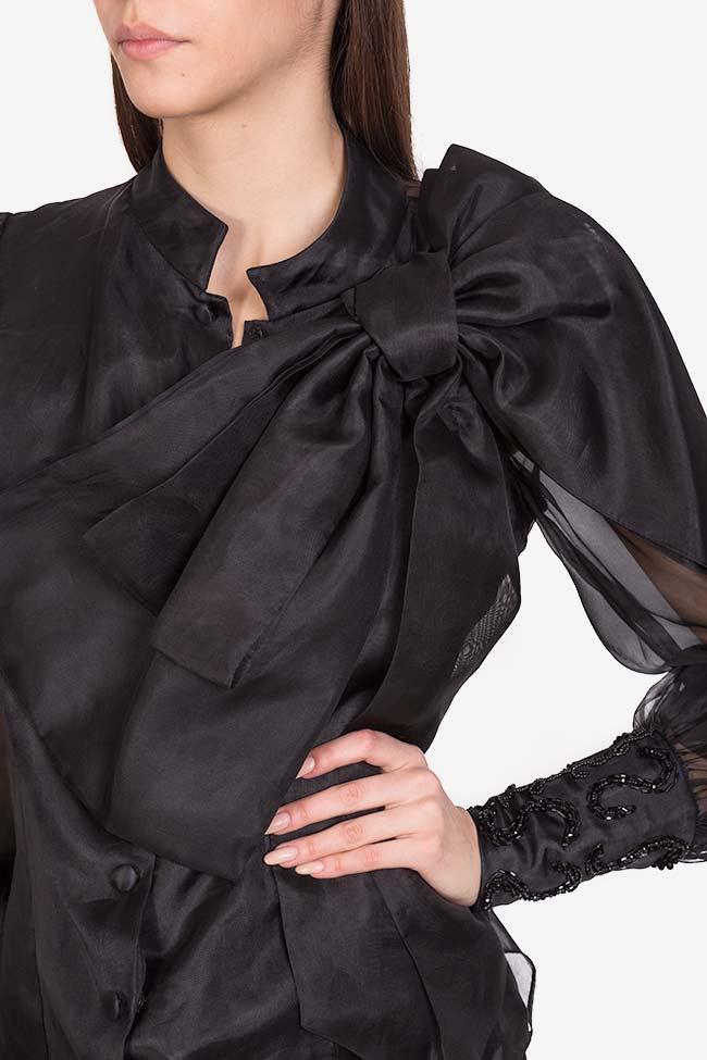 Amora embellished silk organza top M Marquise image 3