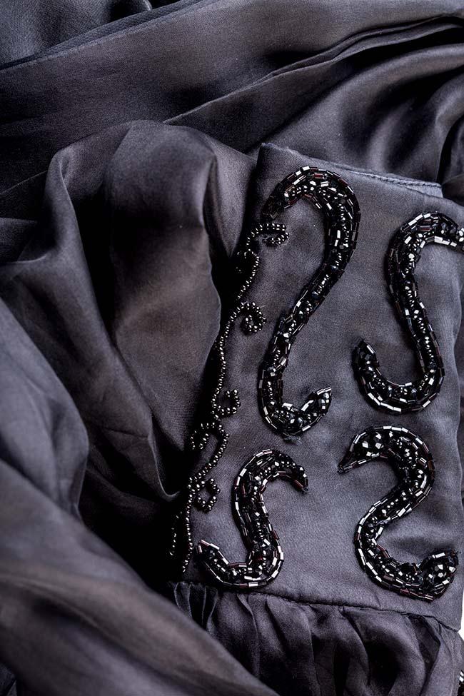 Amora embellished silk organza top M Marquise image 4