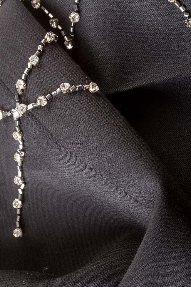 Pantalon en crêpe avec applications de cristaux VIGO image 4