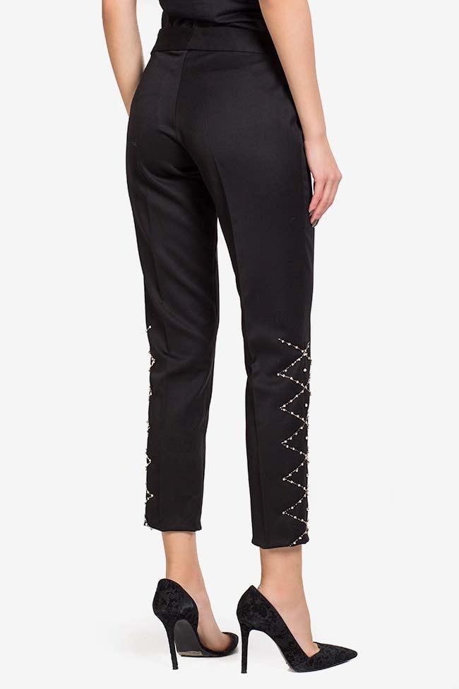 Pantalon en crêpe avec applications de cristaux VIGO image 2