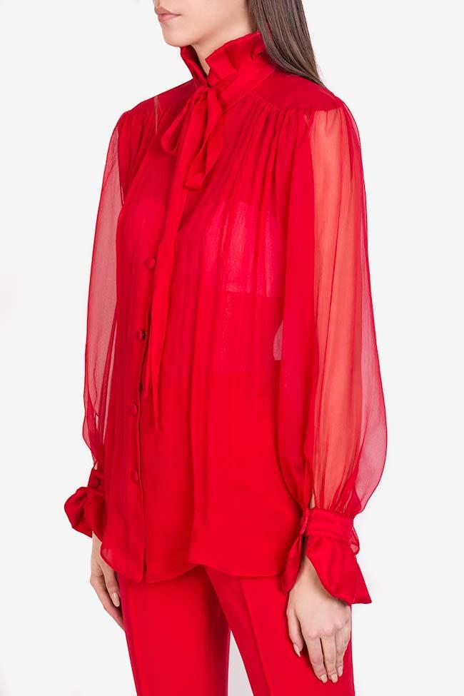 Artema tie-neck silk top M Marquise image 0