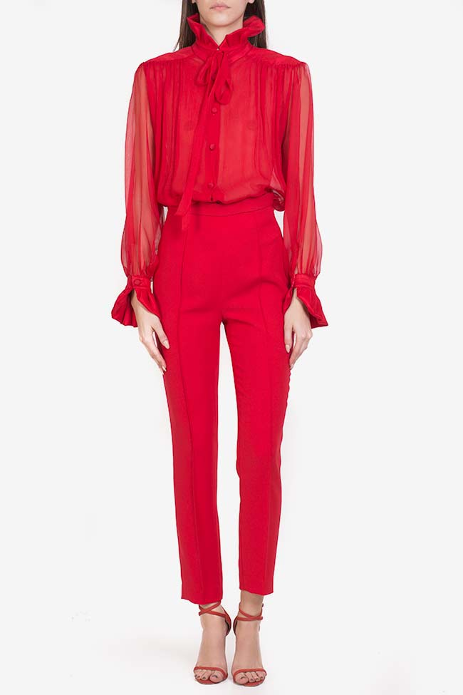 Crepe tapered pants M Marquise image 1