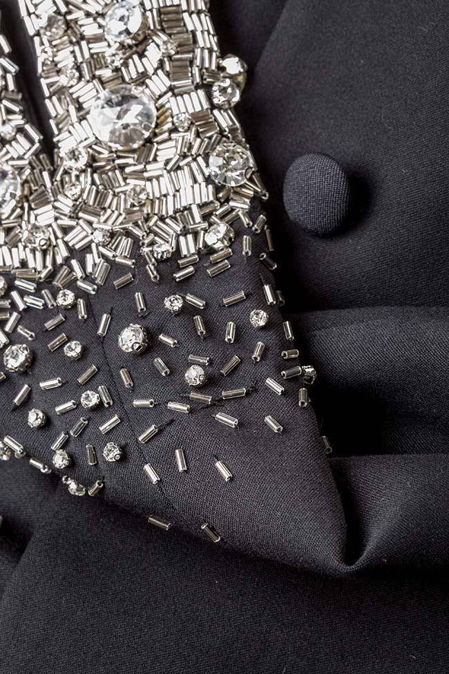 Veste en crêpe avec applications de cristaux VIGO image 4
