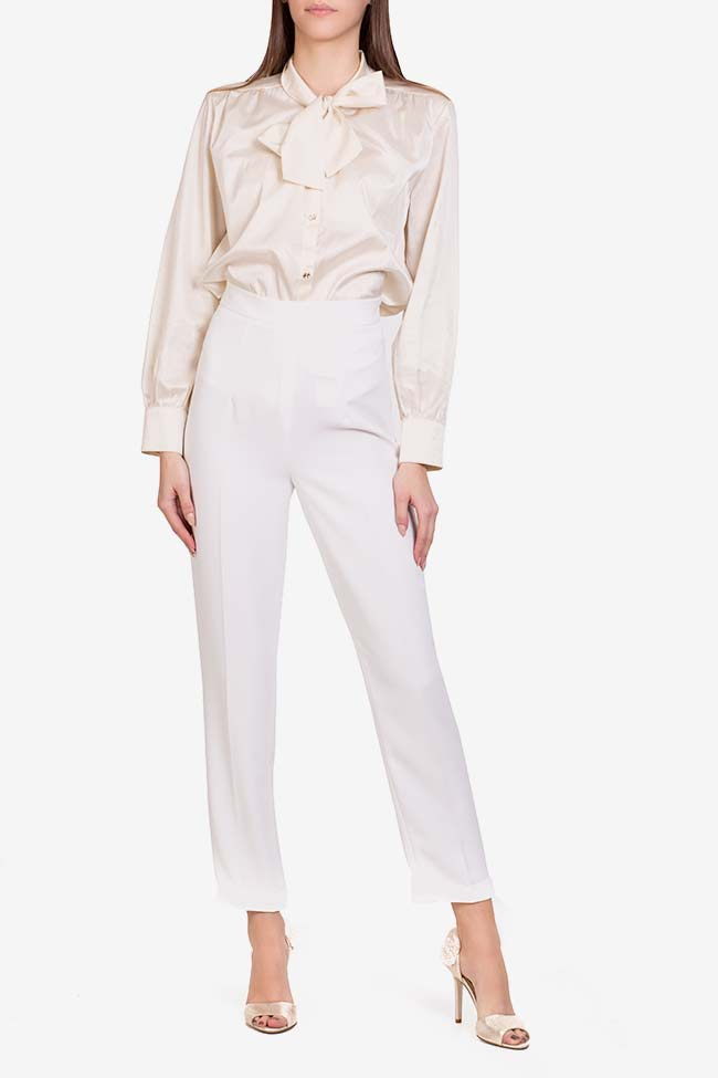 Pantalon en crêpe italien  M Marquise image 1