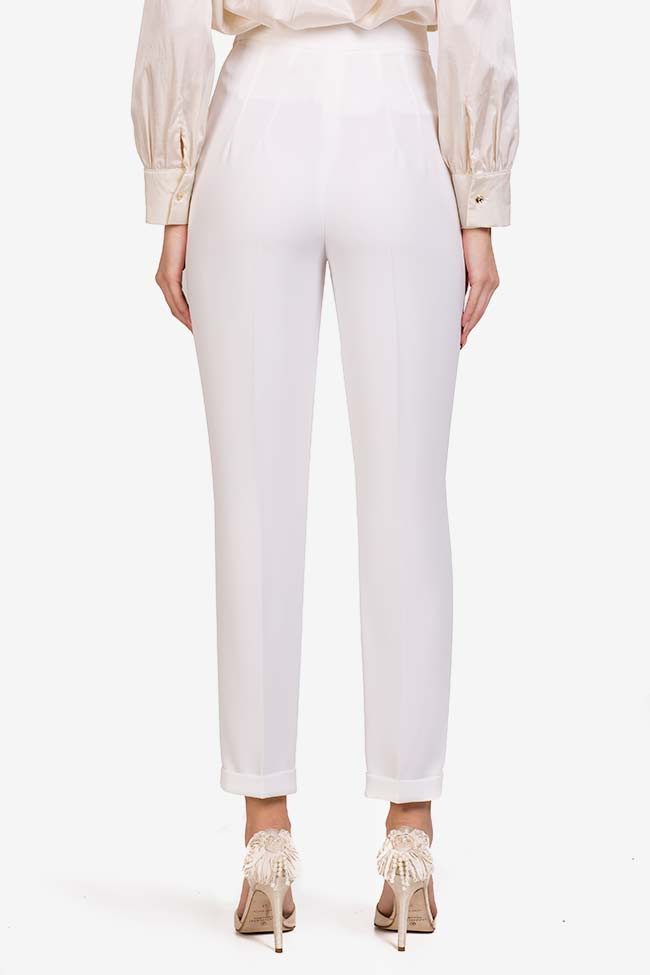Pantalon en crêpe italien  M Marquise image 2