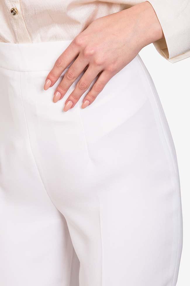 Pantalon en crêpe italien  M Marquise image 3