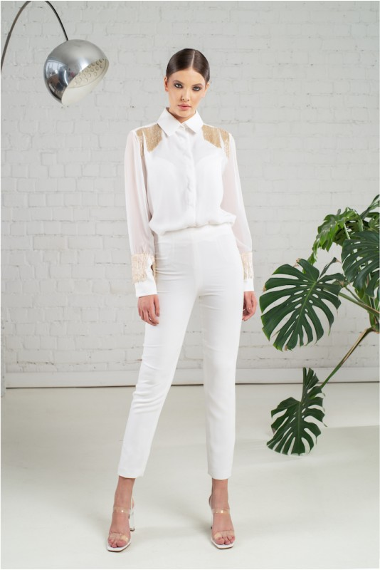 Elly italian crepe tapered pants M Marquise image 4