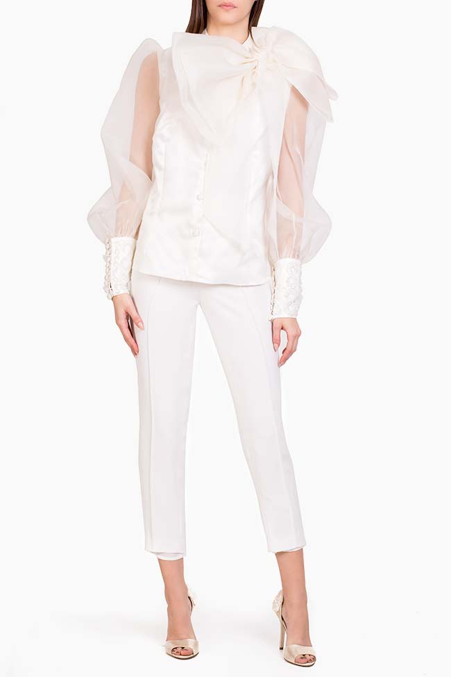 Elly italian crepe tapered pants M Marquise image 1