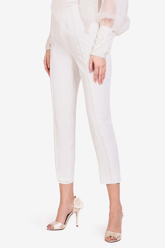 Elly italian crepe tapered pants M Marquise image 0