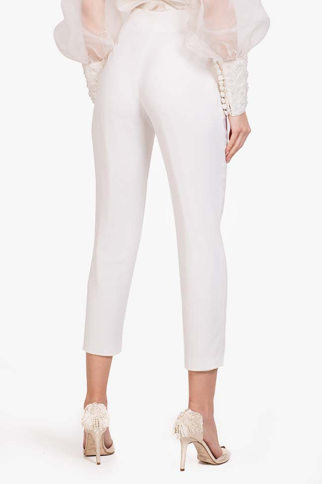 Elly italian crepe tapered pants M Marquise image 2