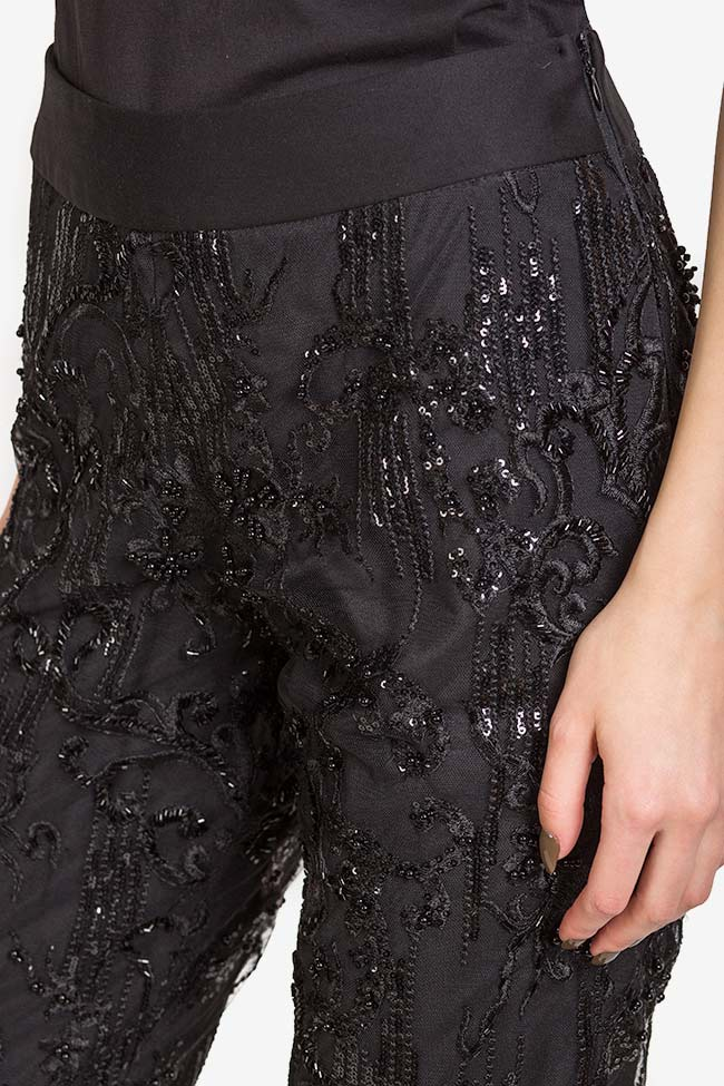 Sequin embellished lace pants VIGO image 3