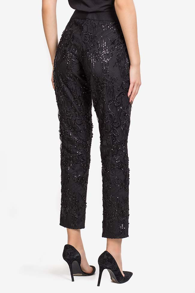 Sequin embellished lace pants VIGO image 2