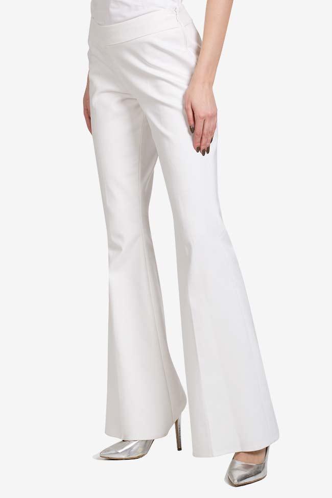 Pantalon évasé en crêpe VIGO image 0
