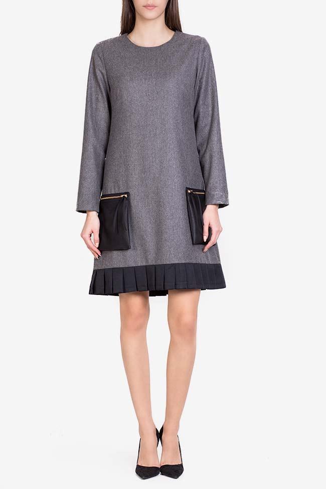 Wool-blend ruffled mini dress Lena Criveanu image 1
