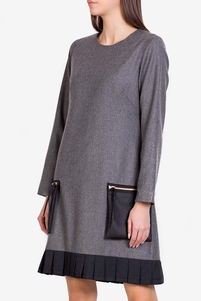 Wool-blend ruffled mini dress Lena Criveanu image 0