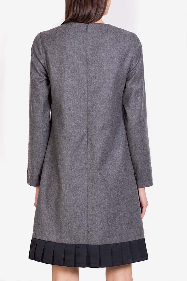 Wool-blend ruffled mini dress Lena Criveanu image 2