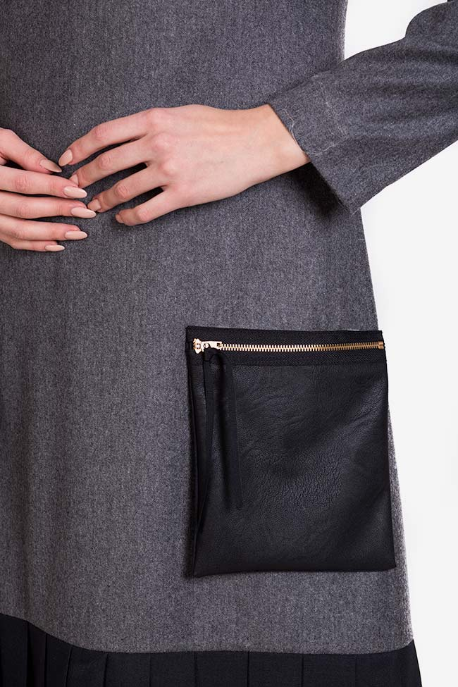 Wool-blend ruffled mini dress Lena Criveanu image 3